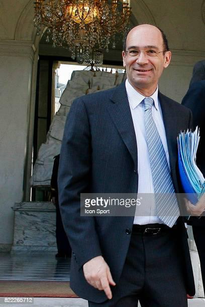 Eric WOERTH Ministre du Budget des Comptes publics et de la Fonction publique Sortie du Conseil des Ministres l'Elysee Paris