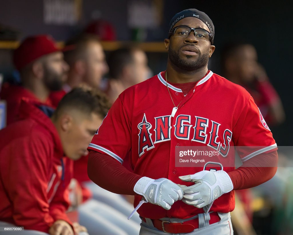 Eric Young Jr. #8 of the Los Angeles Angels walks around in the dugout in the sixth inning during a MLB game against the Detroit Tigers at Comerica Park on June 7, 2017 in Detroit, Michigan. The Angels defeated the Angels 4-0. (Photo by Dave Reginek/Getty Images)Eric Young Jr.