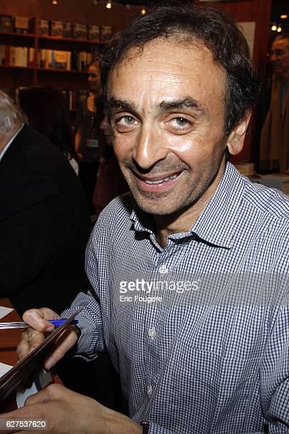Eric Zemmour attends the 2008 'Salon du Livre' in Paris