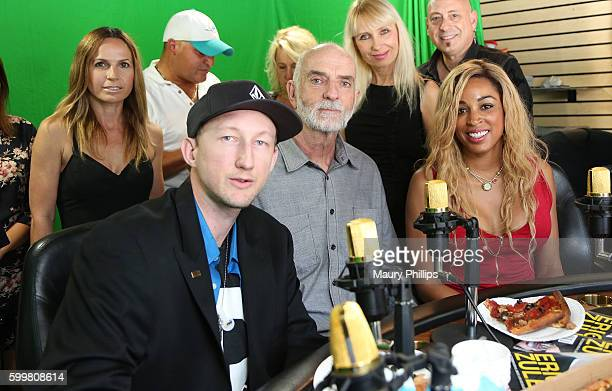 Eric Zuley actor Andy McPhee and Dante Sears attend EZ Talk Live on September 6 2016 in Hollywood California