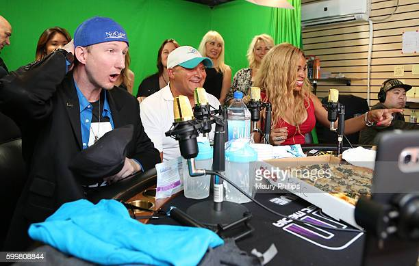 Eric Zuley celebrity pizza guy Nick Ruben and Dante Sears attend EZ Talk Live on September 6 2016 in Hollywood California