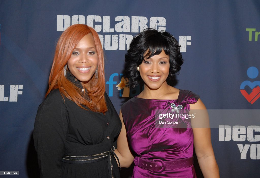Erica and Tina Campbell aka Mary Mary attend 'A New Birth of Citizenship' inaugural event presented by Declare Yourself at Renaissance Washington...