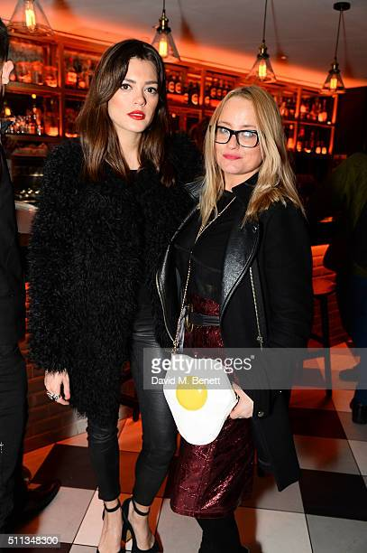 Erica Bergsmeds and Iraina Mancini attend a party following the Pam Hogg show at Fashion Scout during London Fashion Week Autumn/Winter 2016/17 at...