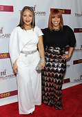 Erica Campbell and Tina Campbell of Mary Mary attend 2016 BMI Trailblazers of Gospel Music Award Show at Rialto Center for the Arts on January 16...