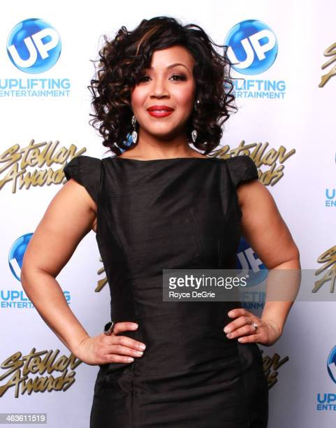 Erica Campbell backstage at the 2014 Stellar Awards at Nashville Municipal Auditorium on January 18 2014 in Nashville Tennessee