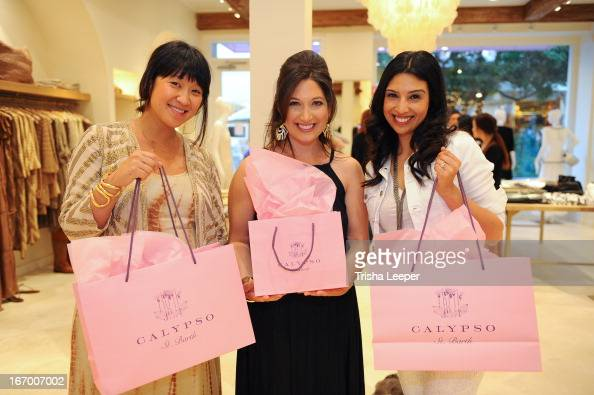Erica Chan Christine Martinez and Randi Zuckerberg attend 'A Balanced Life' discussion panel event at Calypso St Barth at Stanford Shopping Center on...