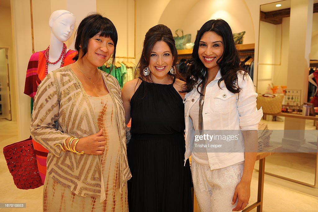 Erica Chan, Christine Martinez and Randi Zuckerberg attends 'A Balanced Life' discussion panel event at Calypso St. Barth at Stanford Shopping Center on April 18, 2013 in Palo Alto, California.