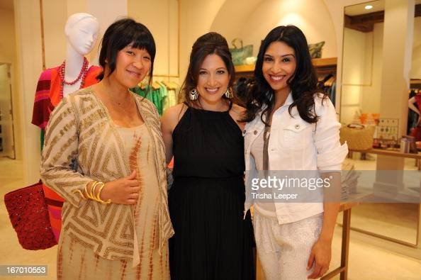 Erica Chan Christine Martinez and Randi Zuckerberg attends 'A Balanced Life' discussion panel event at Calypso St Barth at Stanford Shopping Center...