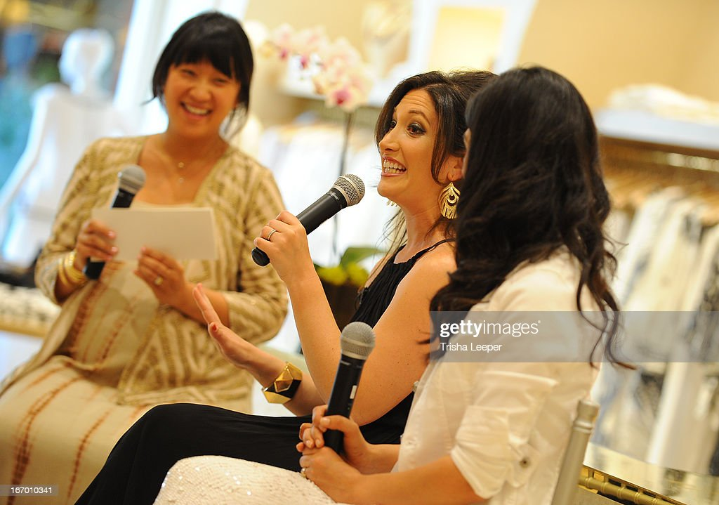 Erica Chan, Randi Zuckerberg and Christine Martinez speaks at 'A Balanced Life' discussion panel event at Calypso St. Barth at Stanford Shopping Center on April 18, 2013 in Palo Alto, California.
