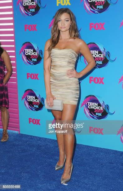 Erica Costell arrives at the Teen Choice Awards 2017 at Galen Center on August 13 2017 in Los Angeles California