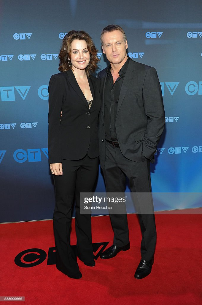 <a gi-track='captionPersonalityLinkClicked' href=/galleries/search?phrase=Erica+Durance&family=editorial&specificpeople=534466 ng-click='$event.stopPropagation()'>Erica Durance</a> and Michael Shanks attend CTV Upfronts 2016 at Sony Centre for the Performing Arts on June 8, 2016 in Toronto, Canada.