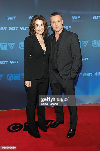 Erica Durance and Michael Shanks attend CTV Upfronts 2016 at Sony Centre for the Performing Arts on June 8 2016 in Toronto Canada