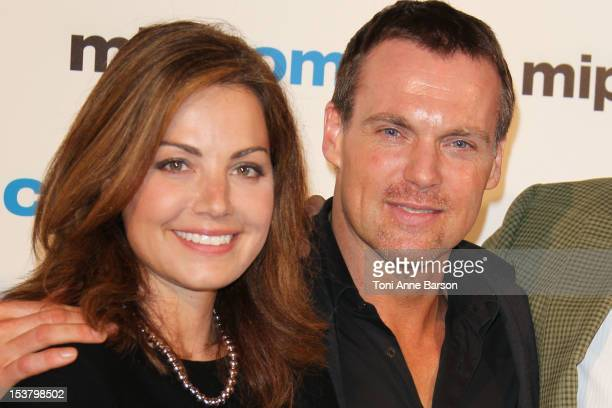 Erica Durance and Michael Shanks attend MIPCOM 2012 Opening Party as part of MIPCOM 2012 at Hotel Martinez on October 8 2012 in Cannes France