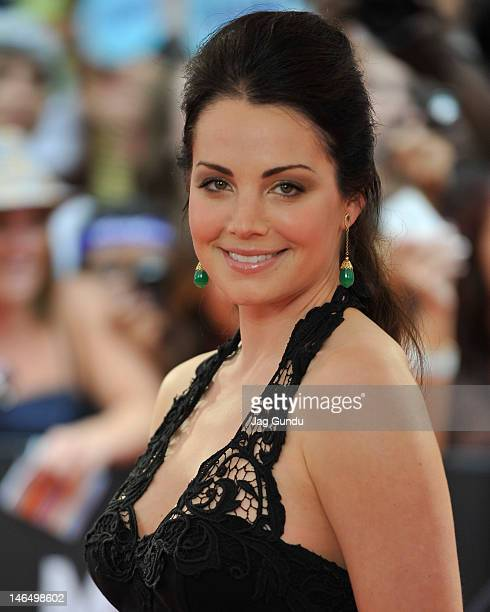 Erica Durance arrives at the 2012 MuchMusic Video Awards at MuchMusic HQ on June 17 2012 in Toronto Canada