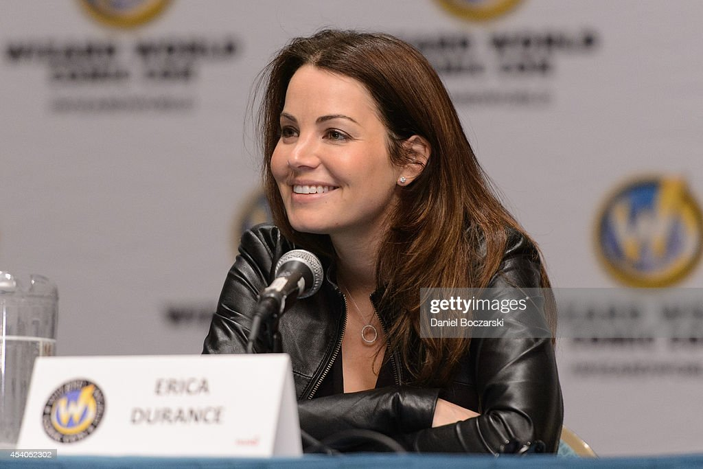 <a gi-track='captionPersonalityLinkClicked' href=/galleries/search?phrase=Erica+Durance&family=editorial&specificpeople=534466 ng-click='$event.stopPropagation()'>Erica Durance</a> attends Wizard World Chicago Comic Con 2014 at Donald E. Stephens Convention Center on August 23, 2014 in Chicago, Illinois.