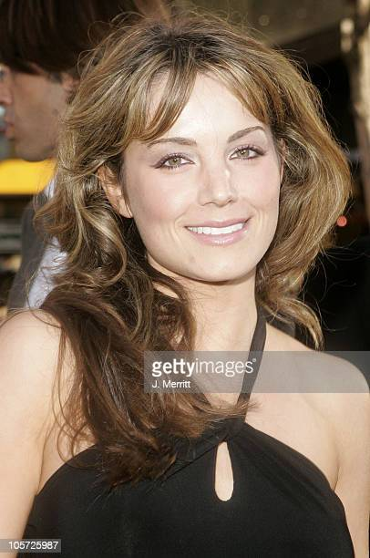 Erica Durance during 'Batman Begins' Los Angeles Premiere Arrivals at Grauman's Chinese Theater in Hollywood California United States