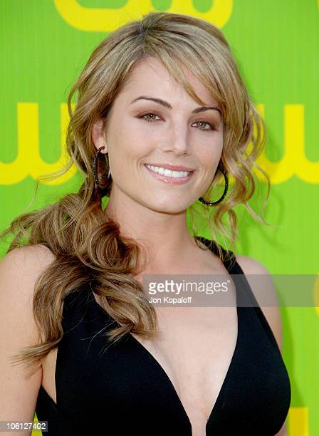 Erica Durance during The CW Launch Party Arrivals at WB Main Lot in Burbank California United States