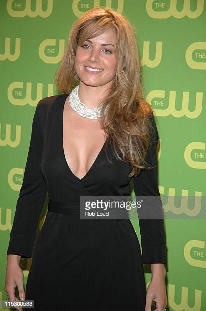 Erica Durance during The CW Upfront Red Carpet at Madison Square Garden in New York New York United States