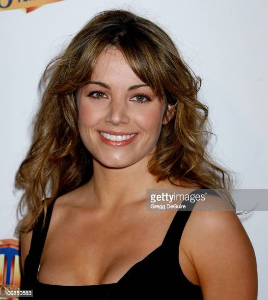 Erica Durance during Warner Bros Television And Warner Home Video Celebrate 50 Years Of Quality TV Arrivals at Warner Bros Studio in Burbank...