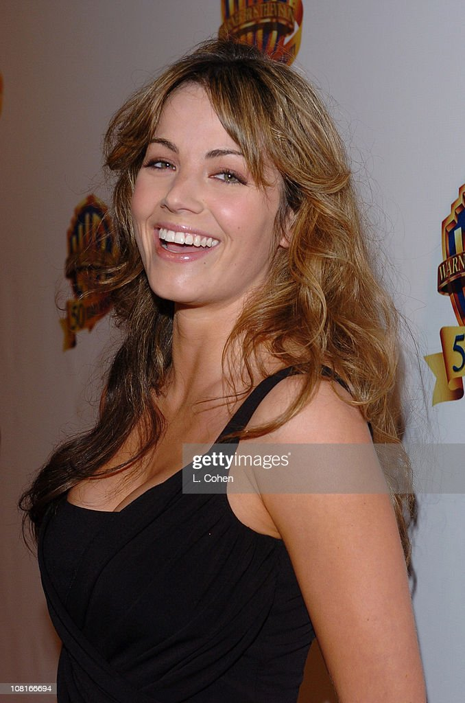 <a gi-track='captionPersonalityLinkClicked' href=/galleries/search?phrase=Erica+Durance&family=editorial&specificpeople=534466 ng-click='$event.stopPropagation()'>Erica Durance</a> during Warner Bros. Television and Warner Home Video Celebrate 50 Years of Quality TV - Red Carpet at Warner Bros. Lot, Stage 6 in Burbank, California, United States.