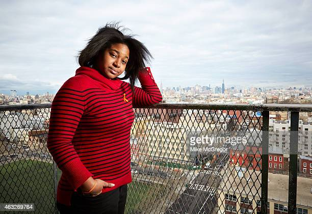 Erica Garner daughter of Eric Garner NYC chokehold victim is photographed for The Observer Magazine on January 19 2015 at home in Brooklyn New York