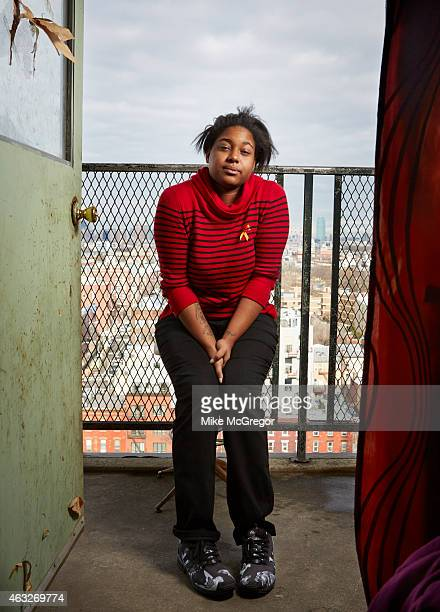 Erica Garner daughter of Eric Garner NYC chokehold victim is photographed for The Observer Magazine on January 19 2015 at home in Brooklyn New York...