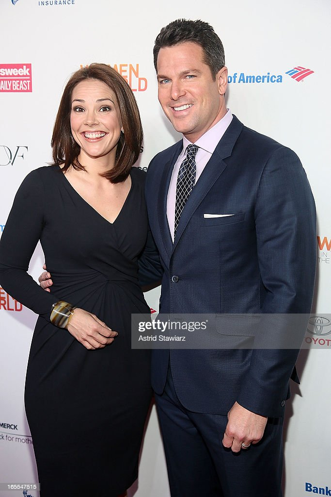 Erica Hill and Thomas Roberts attend Women in the World Summit 2013 on April 4, 2013 in New York, United States.