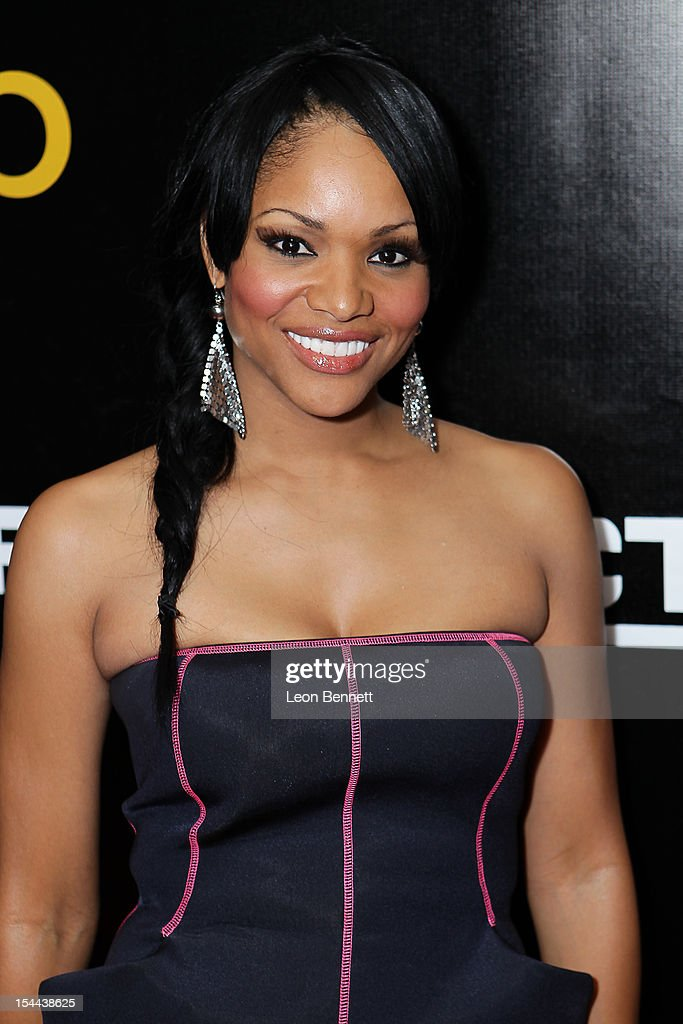 Erica Hubbard arrives at the J. Cole Performs At Footaction's 'Own The Stage' Celebration at W Hollywood on October 19, 2012 in Hollywood, California.