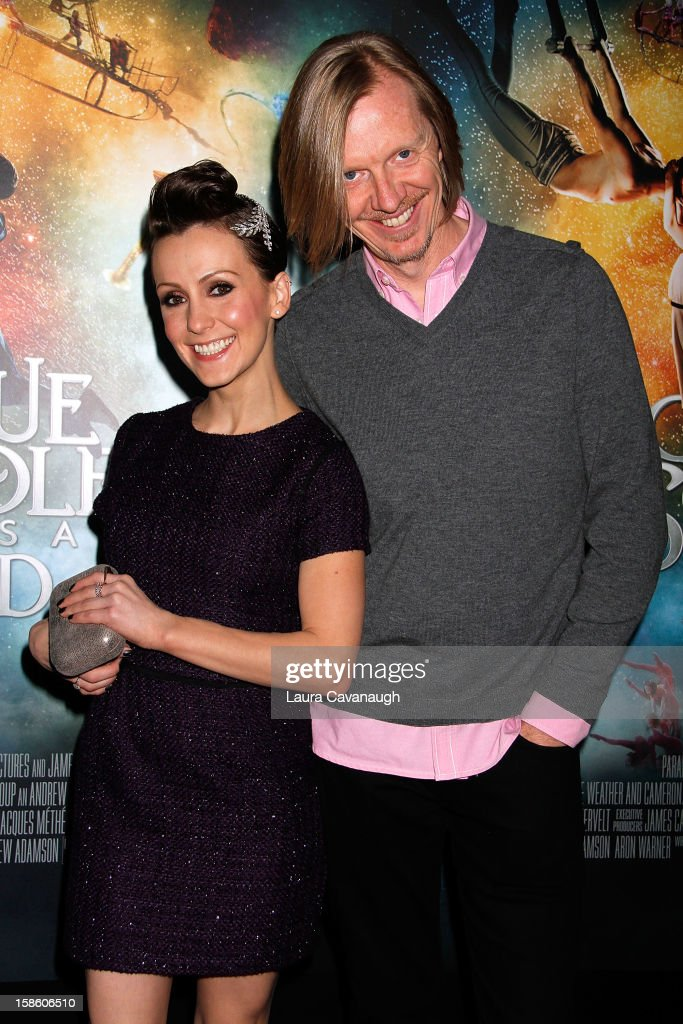 Erica Linz and <a gi-track='captionPersonalityLinkClicked' href=/galleries/search?phrase=Andrew+Adamson&family=editorial&specificpeople=770048 ng-click='$event.stopPropagation()'>Andrew Adamson</a> attend the 'Cirque Du Soleil: Worlds Away' screening at Regal E-Walk Stadium 13 on December 20, 2012 in New York City.