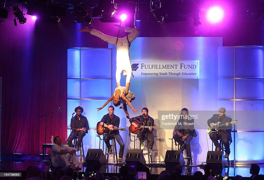 Worlds Away, and musical group Plain White T's perform during The Fulfillment Fund's STARS 2012 Benefit Gala at The Beverly Hilton Hotel on October 24, 2012 in Beverly Hills, California.