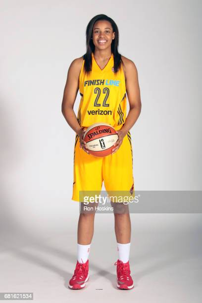 Erica McCall of the Indiana Fever poses for a portrait during Media Day at Bankers Life Fieldhouse on May 9 2017 in Indianapolis Indiana NOTE TO USER...
