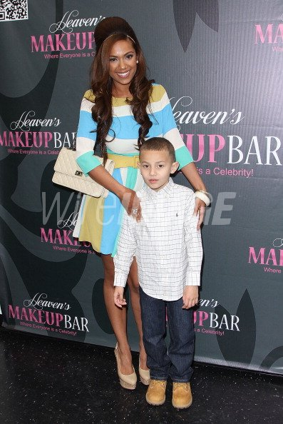 Erica Mena and her son King attend the launch party for ...