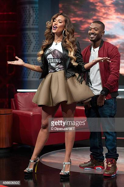 Erica Mena and Ray J host BET's 106 Park at BET studios on October 1 2014 in New York City
