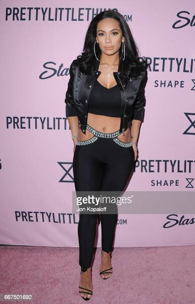 Erica Mena arrives at PrettyLittleThing Campaign Launch For PLT SHAPE With Brand Ambassador Anastasia Karanikolaou on April 11 2017 in Los Angeles...