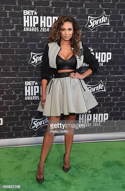Erica Mena attends the BET Hip Hop Awards 2014 at Boisfeuillet Jones Atlanta Civic Center on September 20 2014 in Atlanta Georgia