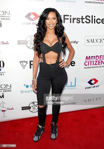 Erica Mena attends the World's Largest Pizza Festival on September 4 2015 in Beverly Hills California