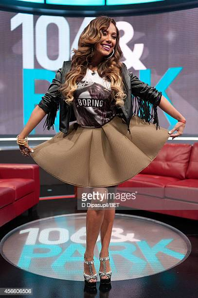 Erica Mena hosts BET's 106 Park at BET studios on October 1 2014 in New York City