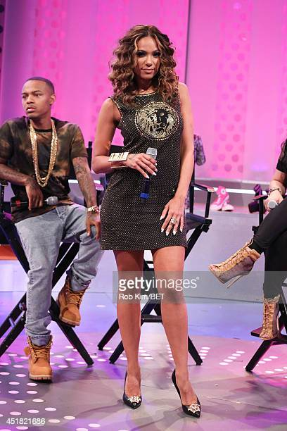 Erica Mena visits BET's 106 Park at BET Studio on July 7 2014 in New York City