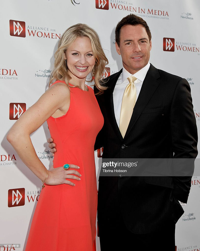 Erica Olsen and <a gi-track='captionPersonalityLinkClicked' href=/galleries/search?phrase=Mark+Steines&family=editorial&specificpeople=798659 ng-click='$event.stopPropagation()'>Mark Steines</a> attend the 56th annual Genii Awards at Skirball Cultural Center on April 23, 2013 in Los Angeles, California.