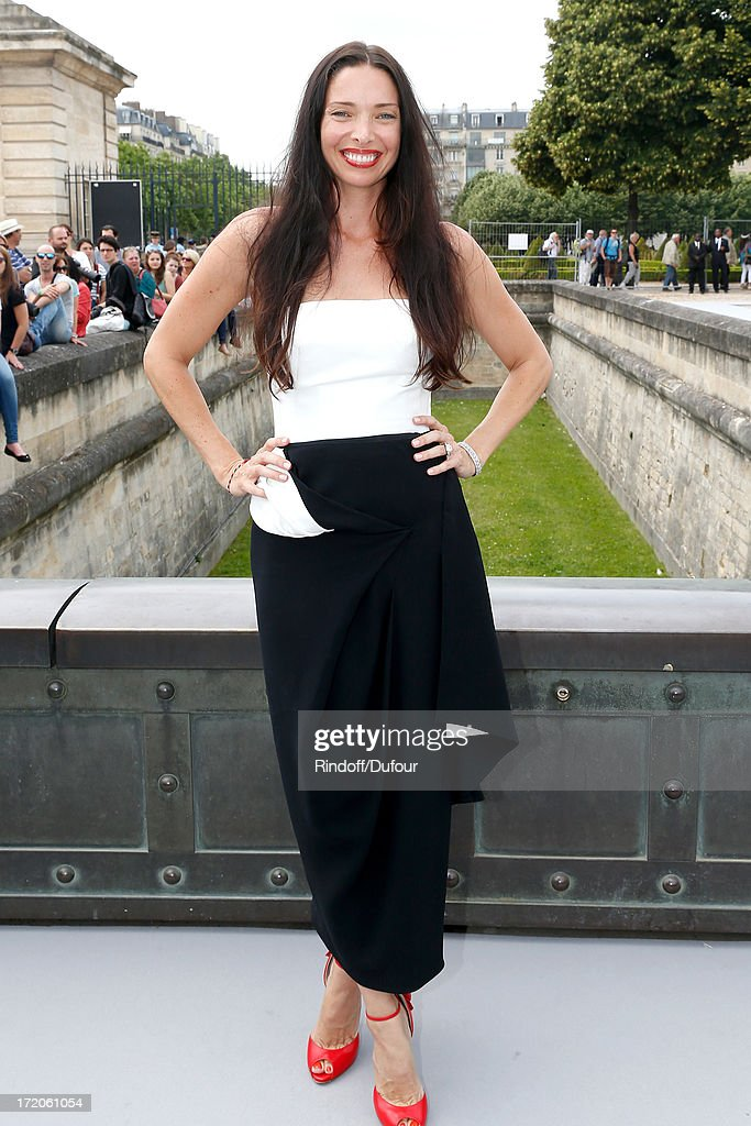 Erica Packer arriving at the Christian Dior show as part of Paris Fashion Week Haute-Couture Fall/Winter 2013-2014 at on July 1, 2013 in Paris, France.