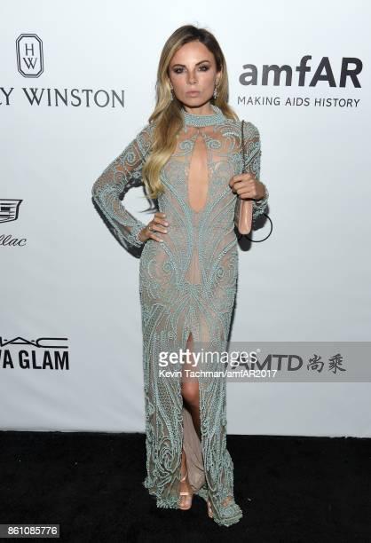 Erica Pelosini at amfAR Los Angeles 2017 at Ron Burkle's Green Acres Estate on October 13 2017 in Beverly Hills Californi