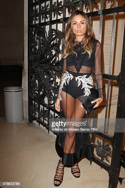 Erica Pelosini attends the Alexandre Vauthier show as part of Paris Fashion Week Haute Couture Fall/Winter 2015/2016 on July 7 2015 in Paris France