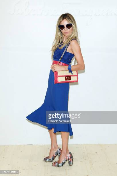 Erica Pelosini attends the Salvatore Ferragamo show during Milan Men's Fashion Week Spring/Summer 2018 on June 18 2017 in Milan Italy