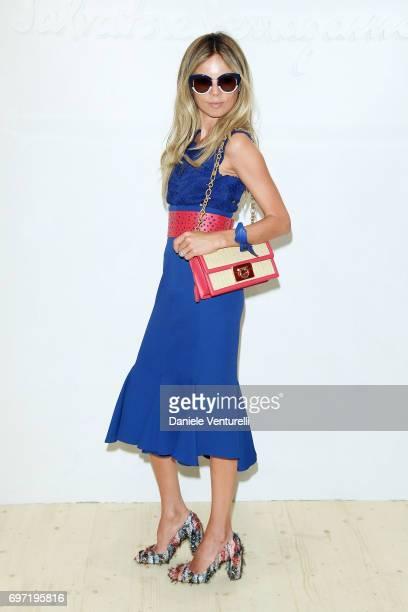Erica Pelosini attends the Salvatore Ferragamo show during Milan Men's Fashion Week Spring/Summer 2018 on June 18 2017 in Milan Italy