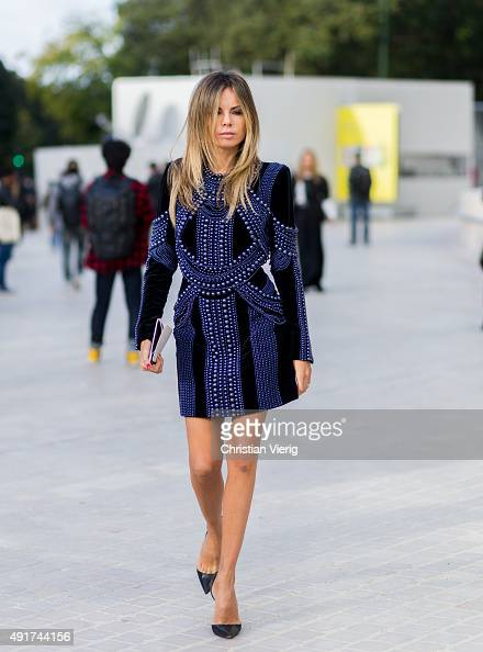 Erica Pelosini Leeman at Louis Vuitton during the Paris Fashion Week Womenswear Spring/Summer 2016 on Oktober 7 2015 in Paris France