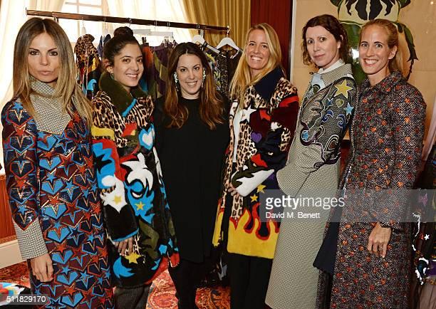 Erica Pelosini Noor Fares Mary Katrantzou Carolina GonzalezBunster Valeria Napoleone and Adriana Chryssicopoulos attend the Mary Katrantzou London...