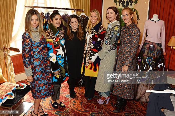 Erica Pelosini Noor Fares Mary Katrantzou Carolina GonzalezBunster Valeria Napoleone and Adriana Chryssicopoulos attend the Mary Katrantzou London...