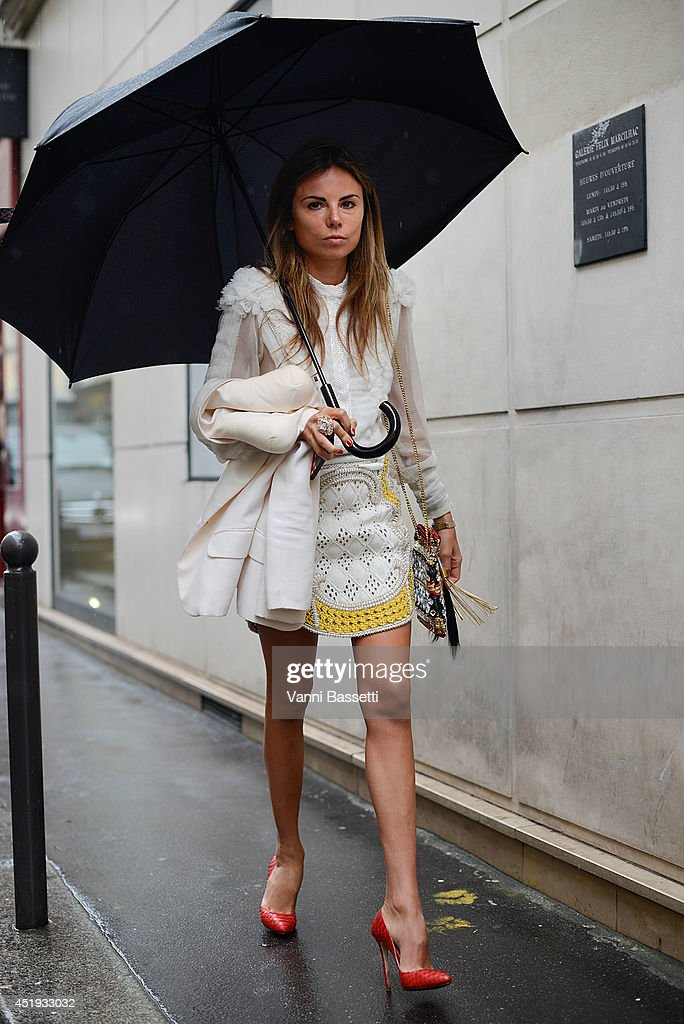 <a gi-track='captionPersonalityLinkClicked' href=/galleries/search?phrase=Erica+Pelosini&family=editorial&specificpeople=9589309 ng-click='$event.stopPropagation()'>Erica Pelosini</a> wears a Balmain dress after Vionnet show on July 9, 2014 in Paris, France.