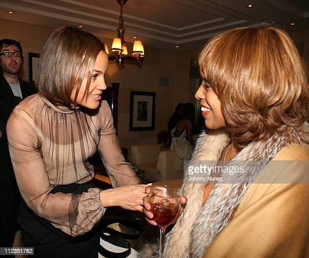 Erica Reid and Gayle King during Erica Reid and Edmondo Castillo Host A Holiday Shopping Night to Support the Liya Kebede Foundation at LA and Erica...