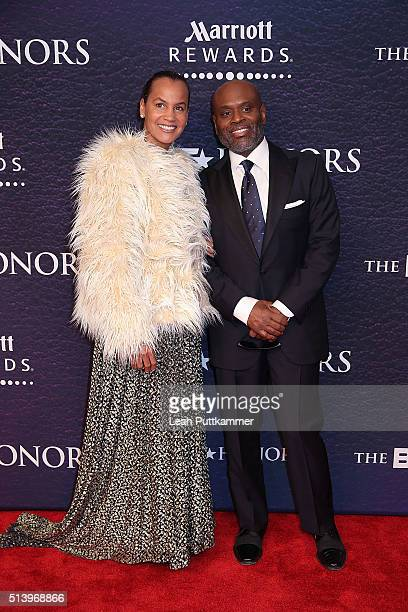 Erica Reid and honoree LA Reid attend the BET Honors 2016 at Warner Theatre on March 5 2016 in Washington DC
